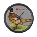 We Love Pheasants! Giant Clock