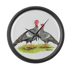 Narragansette Turkeys Giant Clock