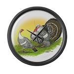 Narragansette Turkey Pair Giant Clock