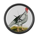 Royal Palm Hen Turkey Giant Clock