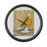 Yellow Bald West Giant Clock