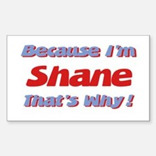 Because I'm Shane Rectangle Decal