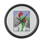 Columbian Cock and Hen Giant Clock