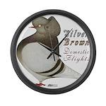 Brown Bar Cap Flight Giant Clock