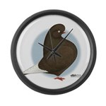 Brown Domestic Flights Giant Clock
