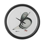 Silver Domestic Flight Giant Clock