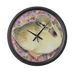 Snowy Mallard Duckling Giant Clock
