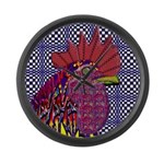 Psycho Rooster Giant Clock
