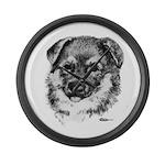 German Shepherd Puppy Giant Clock