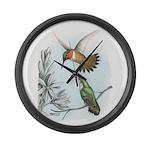 Rufous Hummingbirds Giant Clock