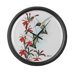 Ruby-throated Hummingbirds Giant Clock