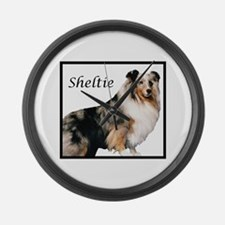 Sheltie With Breed Name Giant Clock