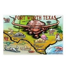 Unique Map texas Postcards (Package of 8)