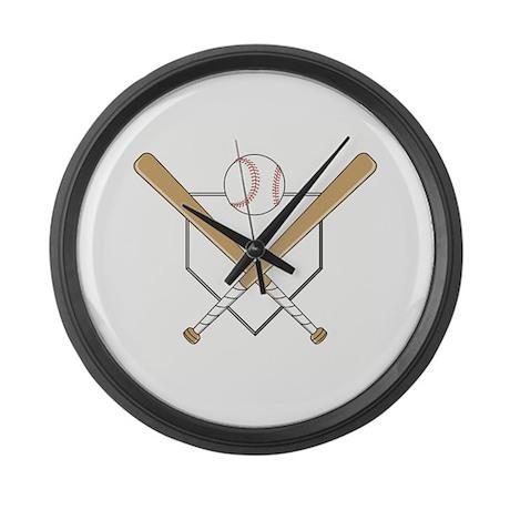 Homeplate Bats Giant Clock