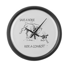 Save A Horse Ride A Cowboy Giant Clock