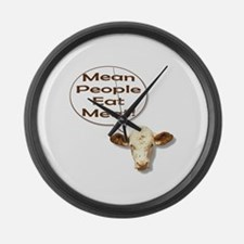 Mean People Eat Meat! Cow Giant Clock
