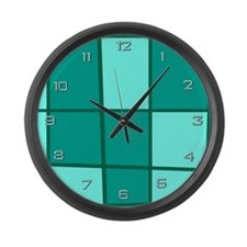 Aqua Grid Giant Clock