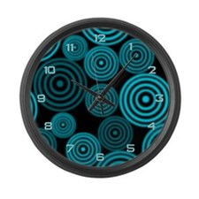 Aqua Circles Giant Clock