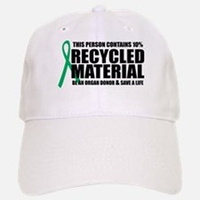Organ Donor: Recycled Materia Baseball Baseball Cap