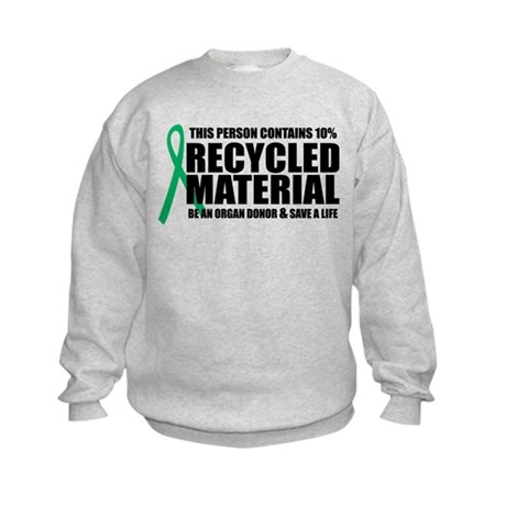 Organ Donor: Recycled Materia Kids Sweatshirt