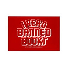 """Banned Books"" Rectangle Magnet"