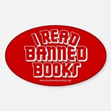 """Banned Books"" Oval Decal"