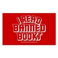 """Banned Books"" Rectangle Decal"