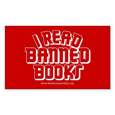 """Banned Books"" Rectangle Sticker"