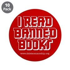 """Banned Books"" 3.5"" Button (10 pack)"
