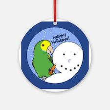 Snowman Yellow Shoulder Amazon Christmas Ornament