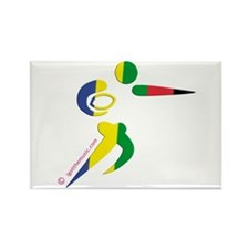 Rugby Olympic Rectangle Magnet