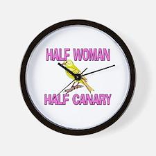 Half Woman Half Canary Wall Clock