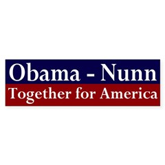 Obama-Nunn 2008 Bumper Bumper Sticker