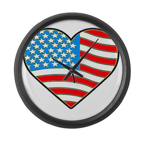I Love America Flag Giant Clock
