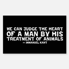 Quote - Kant - Heart of a man Rectangle Bumper Stickers