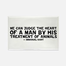Quote - Kant - Heart of a man Rectangle Magnet