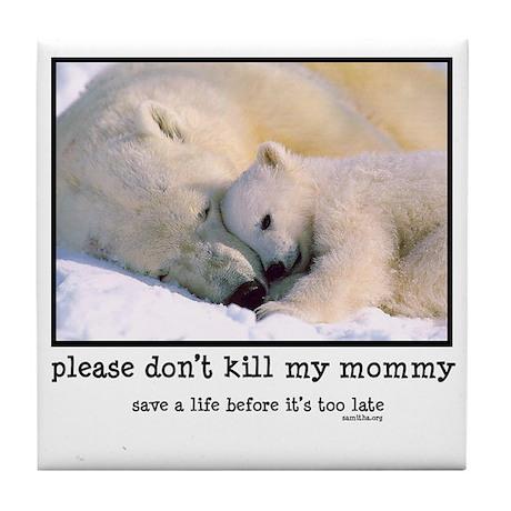 Save the Polar Bears Tile Coaster