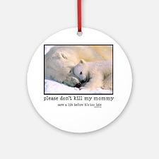 Save the Polar Bears Ornament (Round)