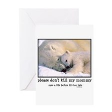Save the Polar Bears Greeting Card