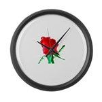 One Red Rose Giant Clock
