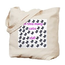 40 Cats Old! Tote Bag
