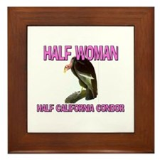 Half Woman Half California Condor Framed Tile