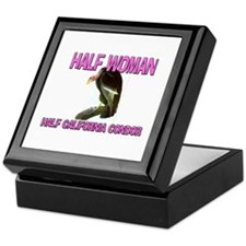 Half Woman Half California Condor Keepsake Box