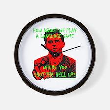Wittgenstein Red No Backgroun Wall Clock