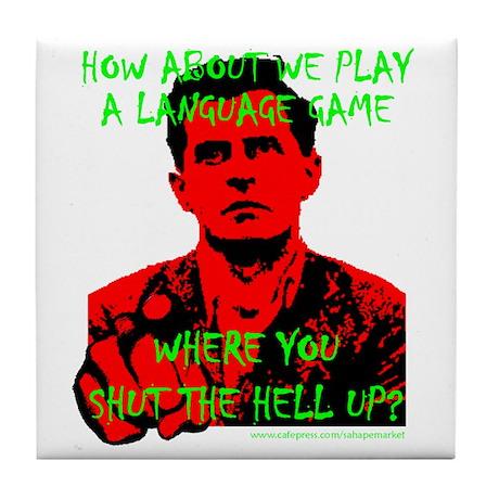 Wittgenstein Red No Backgroun Tile Coaster