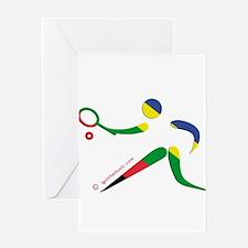 Tennis Olympic Greeting Card