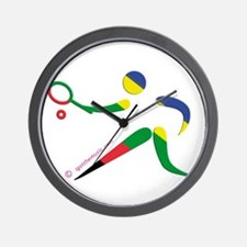 Tennis Olympic Wall Clock