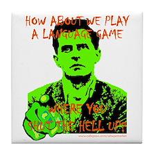 Wittgenstein Green Tile Coaster