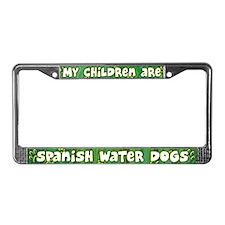My Children Spanish Water Dog License Plate Frame