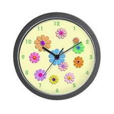 Fun Flowers Wall Clock